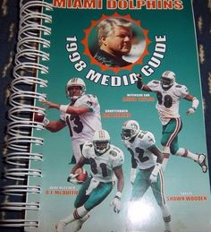 Original NFL Miami Dolphins 1998 Media Guide Illustrated with Players & Staff #MiamiDolphins