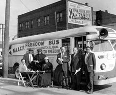 Heroic Freedom Riders challenged interstate segregated transportation facilities in the Deep South in the spring of often facing violent reprisals from ultra-violent white southerners. These brave folks pose in front of one of the Freedom Riders' buses, Freedom Riders, Freedom Fighters, Photo Exhibit, Civil Rights Activists, Civil Rights Movement, History Facts, History Images, Photo Essay, African American History