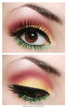 Not sure about the green but the yellow and the pink together are surprisingly pretty.