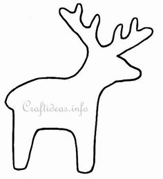 Christmas Stocking Templates Decorated | Christmas Template or Pattern for a Reindeer