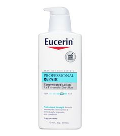 9 Drugstore Products Used Backstage at NYFW via @ByrdieBeauty Backstage at The Blonds, MAC makeup artists had large bottles of Eucerin at their stations. The cult-loved lotion can be used as an everyday hydration, but it's also perfect for getting rid of makeup smudges in a pinch.