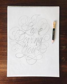 Beautiful type sketch by @iamjustlucky - #typegang - free fonts at typegang.com   typegang.com #typegang #typography