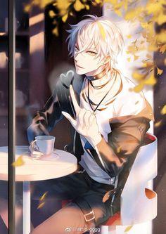Anime Demon Boy, Hot Anime Boy, Anime White Hair Boy, Badass Anime, Cool Anime Guys, Handsome Anime Guys, Anime Boys, Dark Anime, Anime Kunst
