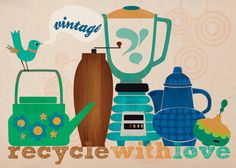 SPRING SALE - Recycle with love-art print limited edition