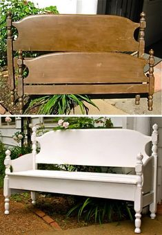 DIY Wood Outdoor Bench Ideas You'll Love #OutdoorBanch #GardenBench #OutdoorFurniture #BackyardIdeas
