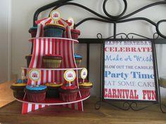 Carnival Cupcake display!