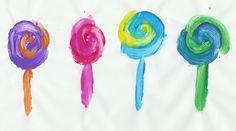 """""""l"""" is for lollipop art"""