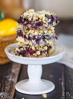 Blueberry Crumble Bars : Yummy Bar Recipes