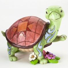 Jim Shore Turtle with Flowers