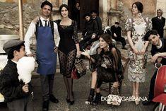 Monica Bellucci, Bianca Balti & Bianca Brandolini for Dolce & Gabbanas Fall 2012 Campaign by Giampaolo Sgura