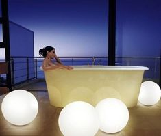 Make your bathroom look like a new room with our spheres