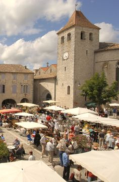 Lauzerte, Bastide medieval, Quercy Blanc, Tarn et Garonne, France Beaux Villages, I Coming Home, France Travel, Medieval, Travel Tips, Dolores Park, Buildings, Street View, French