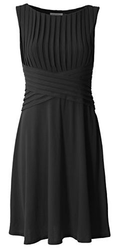 e61395d1f7a Calvin Klein Women s Pleated Flared Matte Jersey Dress at Amazon Women s  Clothing store