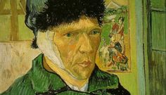 "'Vincent's eyes are crystal blue, his gaze acute and penetrating. He is neither ""sane"" nor ""insane"" but a fellow human being who speaks to us with courage and honesty.' Self-portrait with Bandaged Ear, by Vincent van Gogh, Vincent Van Gogh, Van Gogh Arte, Van Gogh Pinturas, Saatchi Gallery, First Art, Japanese Prints, Living At Home, Sell Your Art, Art Forms"