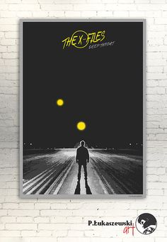 "THE X-FILES - ""Deep throat"" movie poster / print  - Gillian Anderson, Harrson Ford, Dana Scully, Fox Mulder"
