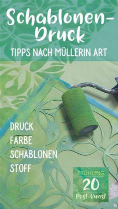 Schablonendruck-Tipps | Post-Kunst-Werk Saree Painting, Paper Art, Printing On Fabric, Stencils, Mixed Media, Workshop, Author, Collage, Prints