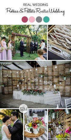 Rustic Wood & Protea Wedding by Nikki Meyer | SouthBound Bride | http://www.southboundbride.com/proteas-pallets-rustic-wedding-at-leeuwrivier-by-nikki-meyer-martine-bruno