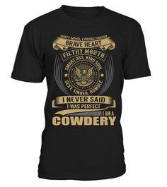 COWDERY - I Nerver Said