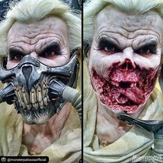 #Repost from @monsterpaloozaofficial Mask on. Mask off. #SpecialEffects artist Russ Lukich aka @russlukich created this realistic sculpture of Immortan Joe from #MadMax: #FuryRoad was at #Monsterpalooza 2016!  MONSTERPALOOZA returns to The Pasadena Convention Center this April 13-15 2018 to Celebrate the Art of Monsters & Movie Magic! Featuring over 250 exhibitors monster museum makeup demos special presentations & much more all weekend! GET YOUR TICKETS IN ADVANCE! For tickets & special…