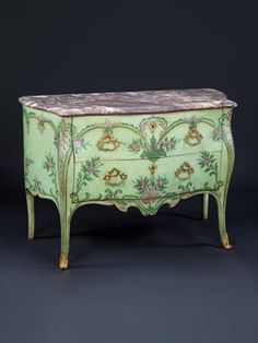 Neapolitan Painted Commodes (c. 1760 Italy)