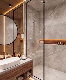 Bathroom Design Luxury, Modern Bathroom Decor, Modern Farmhouse Decor, Budget Bathroom, Simple Bathroom, Modern Bathroom Design, Bathroom Ideas, Minimal Bathroom, Warm Bathroom