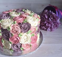 Pastel rose swirls for some www. Pastel rose swirls for some Pretty Cakes, Cute Cakes, Beautiful Cakes, Amazing Cakes, Beautiful Flowers, Rose Swirl Cake, Rose Cake, Decoration Patisserie, Buttercream Cake