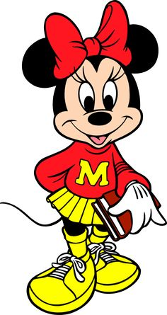 Disney - Minnie Mouse Go To School, free png image