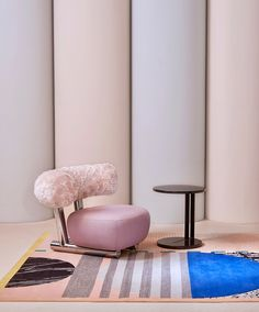 Studio Proba rug for CC-Tapis; Sebastian Herkner chair for Moroso