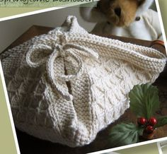 Knitting pattern for biscuit blanket