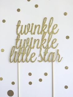 Twinkle Twinkle Little Star Cake Topper / by mikaspartyshop