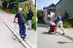 Norway Has World's First Bike Escalator   Bored Panda