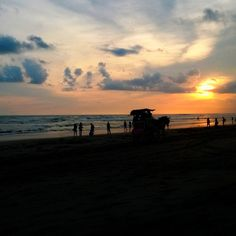 Sunset in Parangtritis Beach