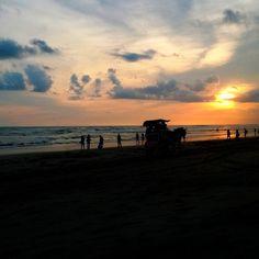 Sunset in Parangtritis Beach