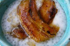 Coconut tapioca pudding with cardamom and caramelized bananas recipe on Food52