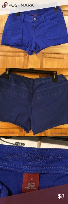 Arizona shorts Royal blue denim short shorts with slit pockets in back. Washed but never worn. Arizona Jean Company Shorts