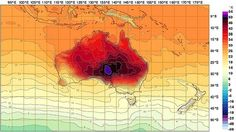 The Bureau of Meteorology has added new colours to its forecasting chart to extend its previous temperature range that had been capped at 50 degrees. The range now extends to 54 degrees – well above the all-time record temperature of 50.7 degrees reached on January 2, 1960 at Oodnadatta Airport in South Australia.  [http://www.smh.com.au/environment/weather/live-nsw-braces-for-one-of-the-hottest-days-on-record-20130108-2cdfn.html]