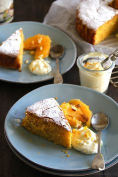 Gluten-free Orange and Almond cake with Orange Scented Mascarpone | Swati Bansal Rao