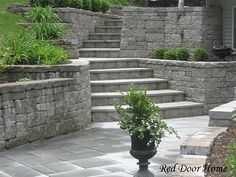 1000 images about outdoor stuff retaining walls on for Walkout basement retaining walls