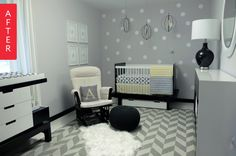 Before & After: Blank Slate to Modern, Gender-Neutral Nursery