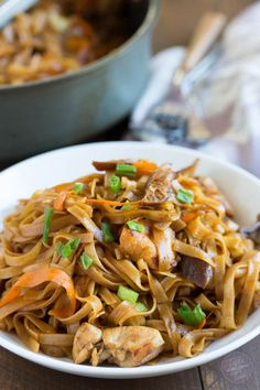 Thai chicken curry noodles is a fun Asian dish that is easy to put together and full of flavor!