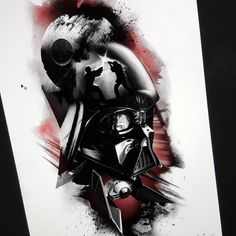 Can't wait to be at the Brussel tattoo convention this week end. Will be doing to half sleeve obout starwar. Here is one of them. Can't wait. by thomascarlijarlier