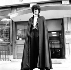 Phil Lynott of Thin Lizzy modelling clothes from Saville Row, London. Phil is wearing a black barathea dress suit with gold waistcoat and bow tie - made by Roy Chittleborough and Joseph Morgan of. Get premium, high resolution news photos at Getty Images Rock Roll, Rock N Roll Music, Blues, Thin Lizzy, Live Band, Model Outfits, Joseph Morgan, Afro Punk, Rock Legends
