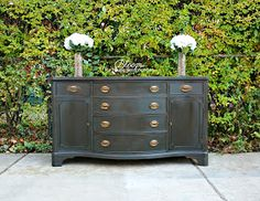Bloom. : Client Project: Dramatic Buffet in Chalk Paint