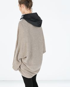 RIBBED WRAP CARDIGAN from Zara