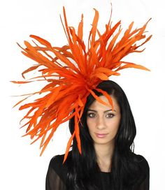 Burnt Orange Fascinator Hat For Weddings Races By Hatsbycressida