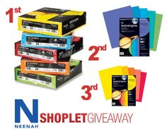 neenah astro brights giveaway1 Win Neenah Astrobrights Paper!