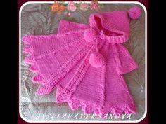 Вяжем спицами - розовая накидка для девочки. Часть 1 - YouTube