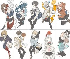 Kagerou Project Tsurezure Children, Fairy Tail Comics, Dark Anime Guys, Anime Group, K Project, Kagerou Project, Kawaii, Character Design Inspiration, Anime Comics
