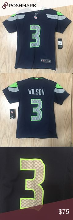 c89e70bc9 NFL Seahawks Jersey Wilson #3 Nike OnField Youth S New with Tags Youth Nike  NFL
