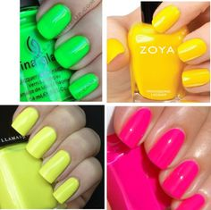 """""""Neon nails"""" by emilylanglais on Polyvore"""
